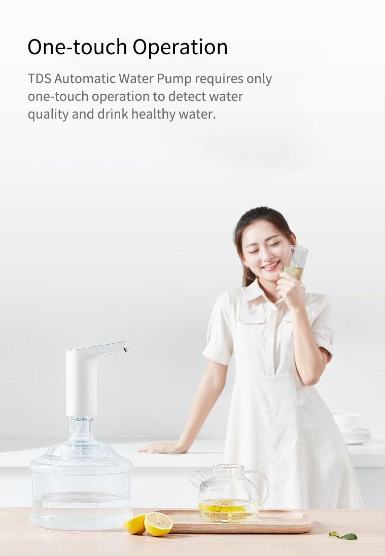 Newest Xiaomi XiaoLang Automatic Mini Touch Switch Water Pump Wireless Rechargeable Electric Dispenser Water Pump WithTDS Test (1)