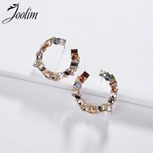 Joolim Jewelry Wholesale/Colorful Glass Hoop Earring Chic Stylish Earrings for Women 2019