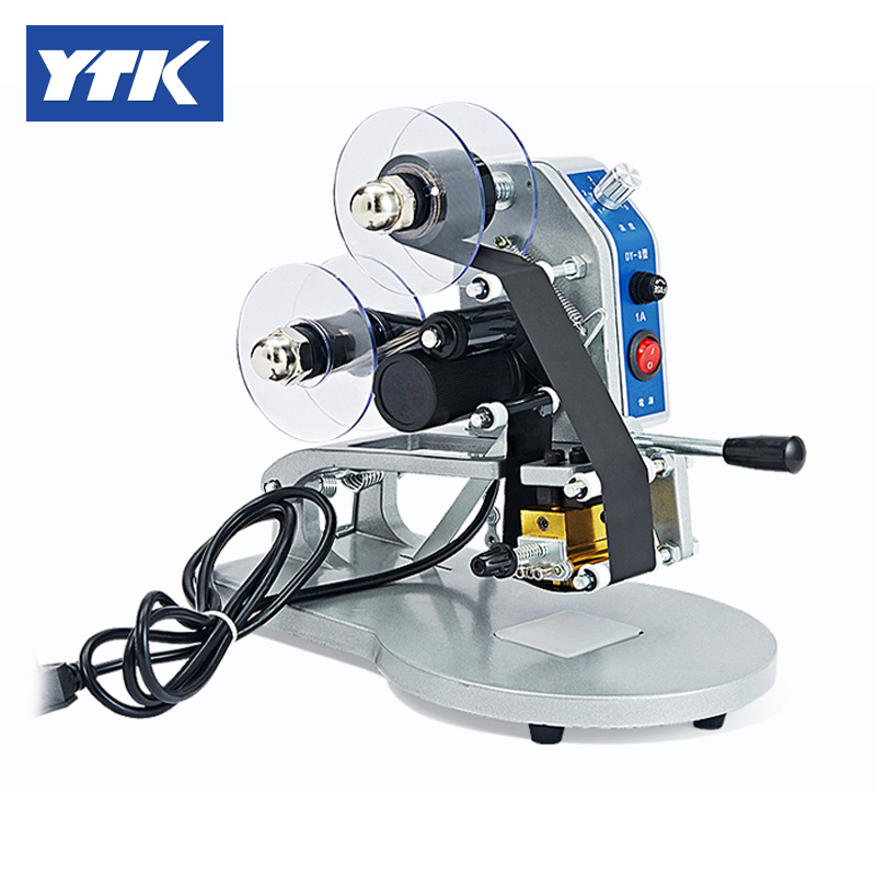 YTK Manual Number Words Date Printing Machine For Bag & Paper & Film Grind