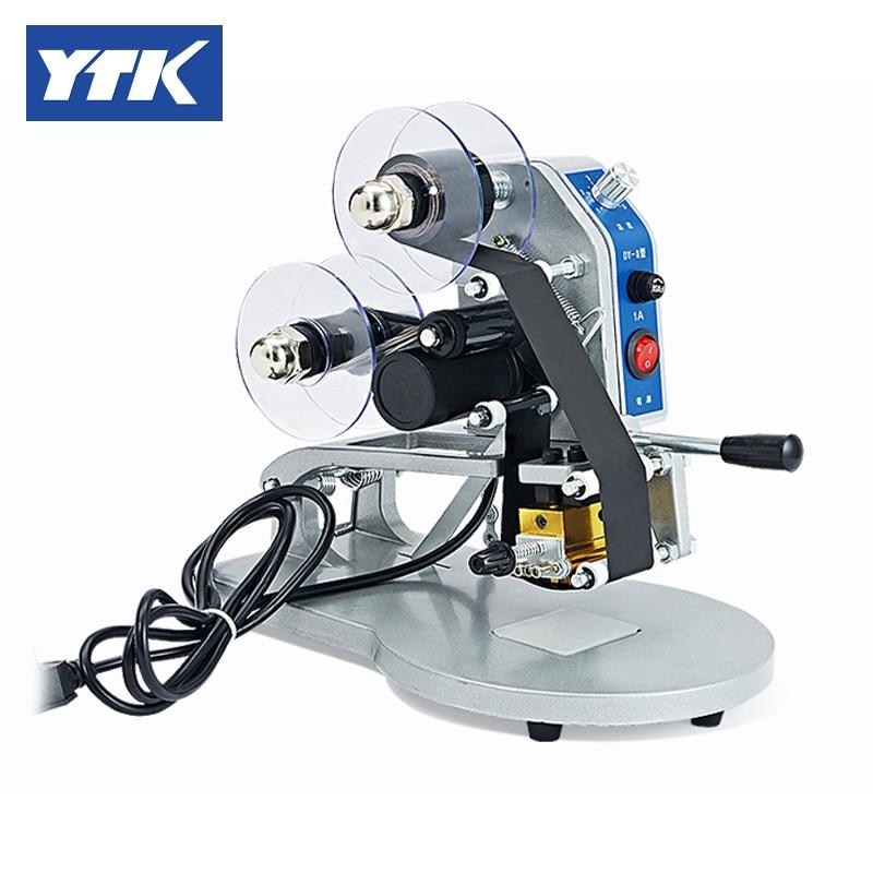 YTK Manual Number Words Date Printing Machine For Bag & Paper & Film Grind