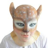 2017 Hot selling Creepy Deer demon latex Mask Halloween realistic silicone animal mask