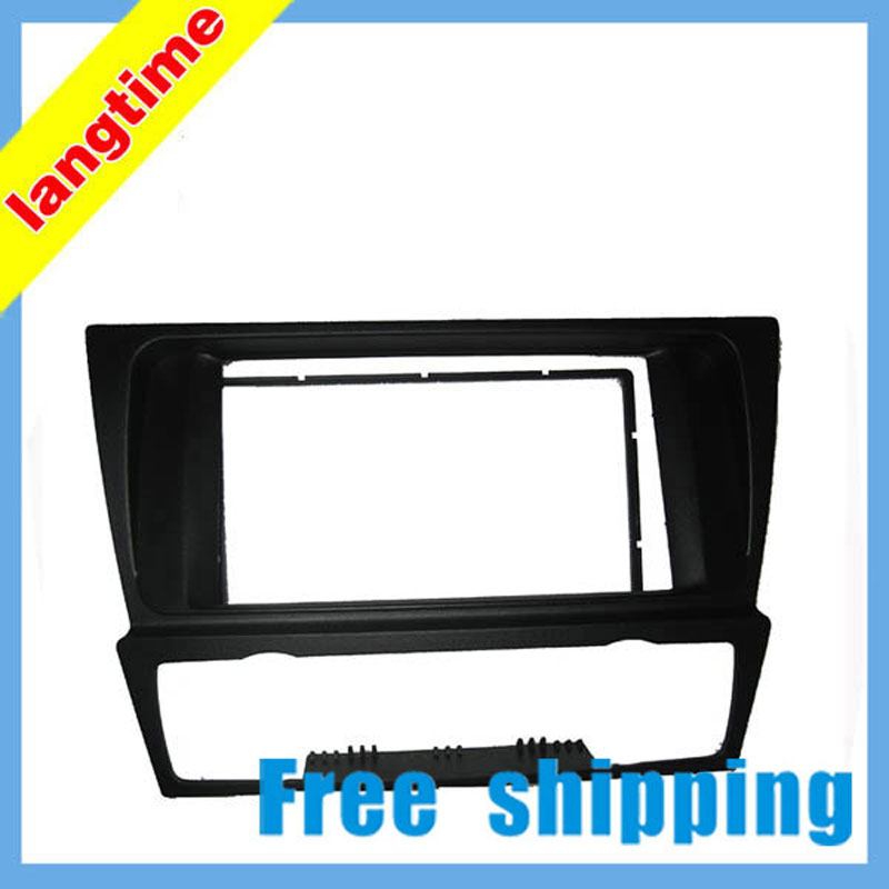 Free shipping--Car refitting DVD frame,DVD panel,Dash Kit,Fascia,Radio Frame,Audio frame for BMW 3 E90-93.2 DIN 2 din carro fascia car fascia panel audio panel frame car dash kit for mitsubishi outlander 2007 2013 free shipping