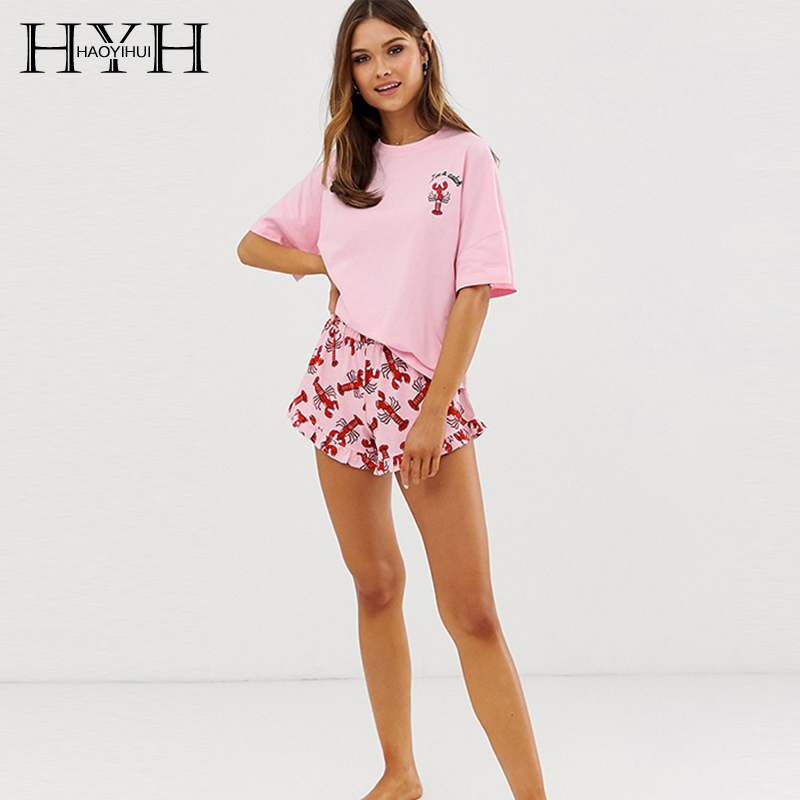 HYH Haoyihui 2019 Summer Causal Print Simple Womens Sweet Girls Bottoms Female Shorts Panties Breechcloth Short Pants
