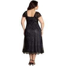 Women's Fashion Plus Size Floral Lace Dress