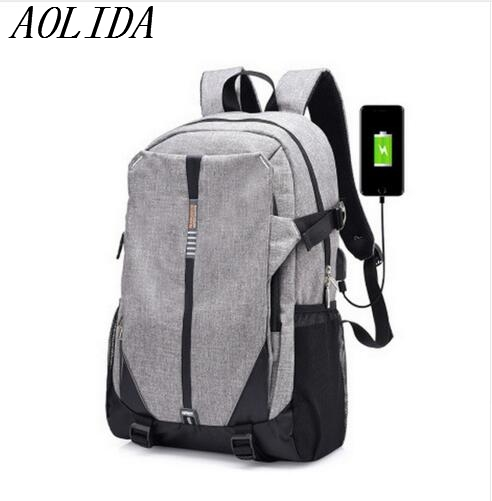 Teen Canvas Men Backpack Cool 2017 High School Bags for Teenage Book Bag Boys girls USB Schoolbag Male Back pack Laptop Women