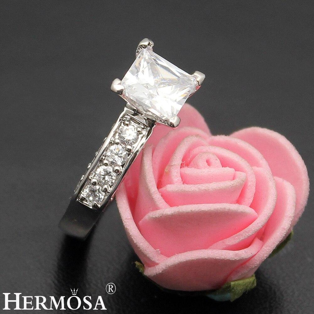 Wedding Rings White Zircon 1 Pair Rings Engagement Anniversary ...