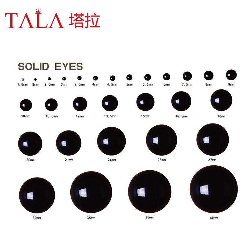 1.8mm-24mm Safety Balck Eyes Fit för nalle och andra fyllda Animal - Dockor och gosedjur