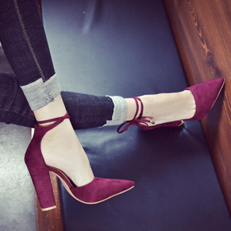 2019 Women Sexy Summer Pointed tapas de caucho tacon Chunky high-heeled Lace Up Sandals women Cross-tied Shoes zapatos mujer552019 Women Sexy Summer Pointed tapas de caucho tacon Chunky high-heeled Lace Up Sandals women Cross-tied Shoes zapatos mujer55