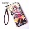 2017 New One Piece Cosplay Straw Hat Pirates Luffy Zoro Cartoon Logo PU Leather Long Wallet Purse Moneybag Burse Notecase