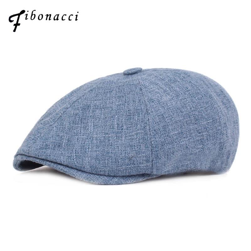 Fibonacci Fashion Men Women Berets Cotton Linen Gatsby Octagonal Ivy Hat Golf Driving Flat Cabbie Newsboy Cap Hat