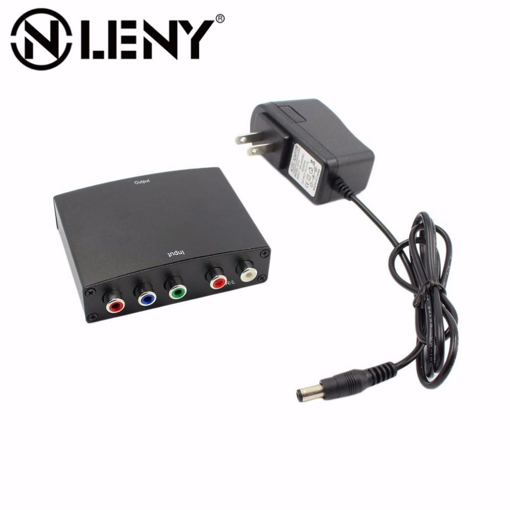 Onleny 1080p Component to HDMI Converter RGB YPbPr to HDMI Converter AV Video Audio HDCP YPbPr/RGB + R/L audio to HDMI Converter
