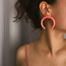 half circle stud earrings fashion jewelry boho metal ear studs women oorbellen circle shaped metal stud ear cuff