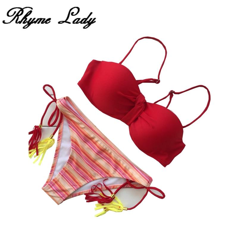 Rhyme Lady swimwear women push up swimsuit plus size brazilian bikini set push up  for female high waisted biquine beachwear
