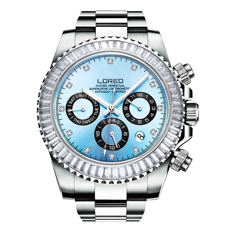 LOREO fashion cheap mechanical diamond luminous watch new waterproof scratch resistant high temperature resistant business watch