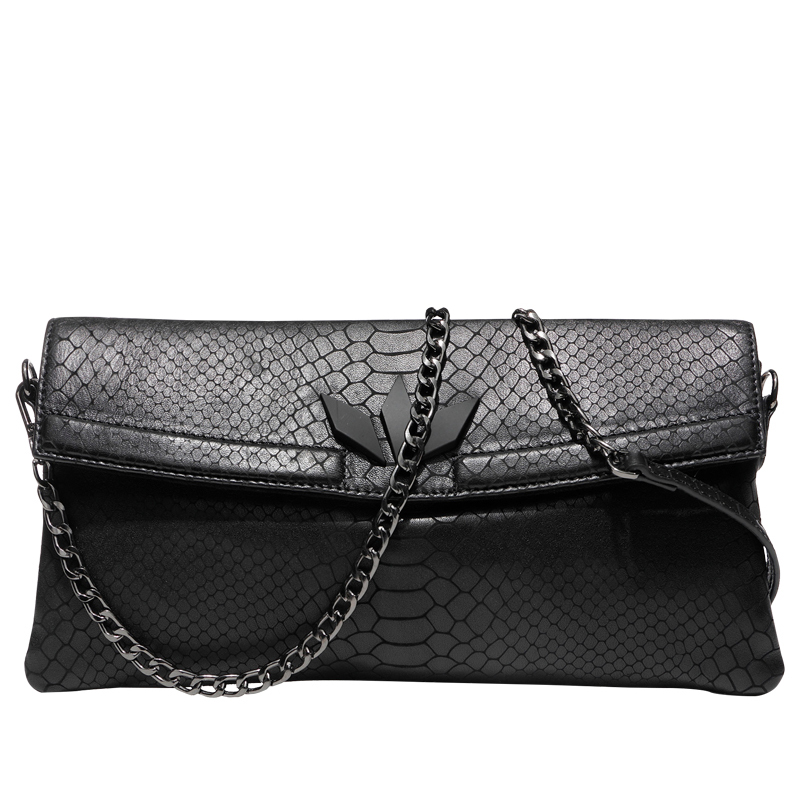 Fashion Women's Clutch Wallet Purse Banquet Evening Clutches Handbag Genuine Leather Serpentine Shoulder Crossbody Bag Wristlet genuine leather women wristlet bag 2017 new fashion evening clutch purse shoulder chain crossbody handbags free shipping 5002
