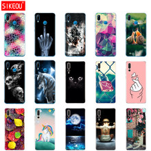 "silicone case For 5.84"" Huawei P20 Lite huawei p20 pro phone for HUAWEI P 20 Coque back cover protective phone clear Cat flower(China)"