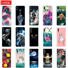 """silicone case For 5.84"""" Huawei P20 Lite huawei p20 pro phone for HUAWEI P 20 Coque back cover protective phone clear Cat flower"""