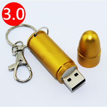 Gold Bullet Pendrive 512 GB USB Flash Drives Memory Stick Pendrives USB 3.0 High Speed 64GB 32GB 16GB 8GB Card Disk Key 512GB