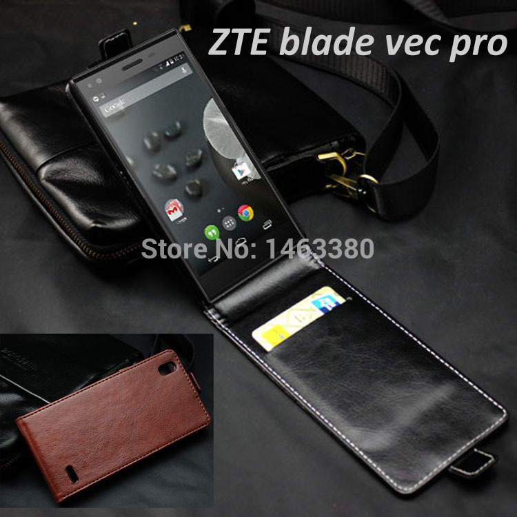 High Quality luxury Genuine wallet Leather Case for ZTE blade vec pro 3G Flip Cover cases