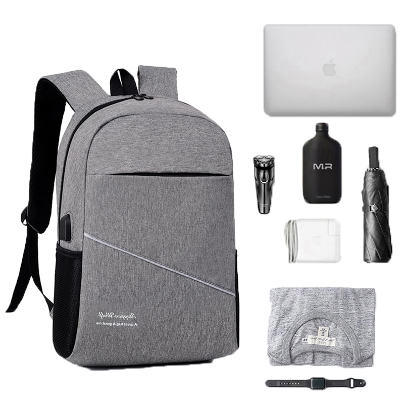 Man Laptop Backpack Usb Charging Computer Backpacks Casual Style Large Bagpack Business Travel Bag Mochilas Hombre Back Pack