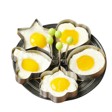 5pcs/set Fried Egg Mold Stainless Steel Tool Creative Shaped Omelette Pancake Rings Diy Kitchen Cooking Tools