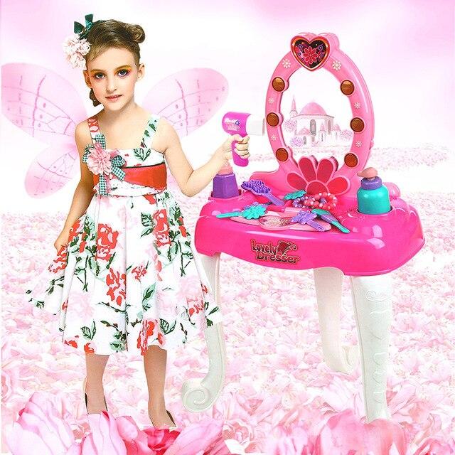 jouer a faire semblant enfants vanite coiffeuse coffret en plastique jouets ensemble de meubles pour les