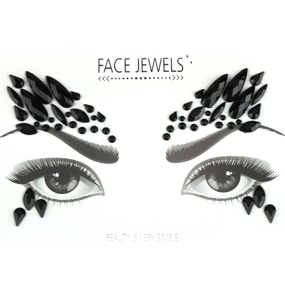 Makeup Adhesive Face Jewels Gems Temporary Tattoo Face Jewels Festival  Party Body Art Gems Rhinestone Flash Tattoos Stickers-in Temporary Tattoos  from ... 0df779893211