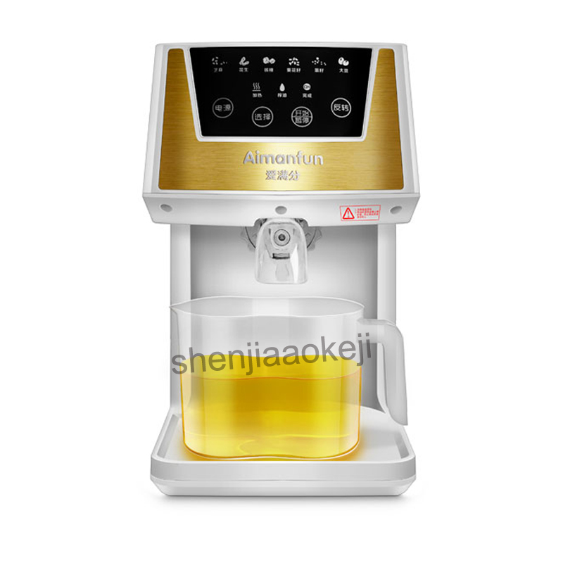 Stainless Steel Household Extractor High Pressing Rate Mute Cold Hot Oil Making Machine Automatic Electric Oil Press machine automatic nut seeds oil expeller cold hot press machine oil extractor dispenser 350w canola oil press machine