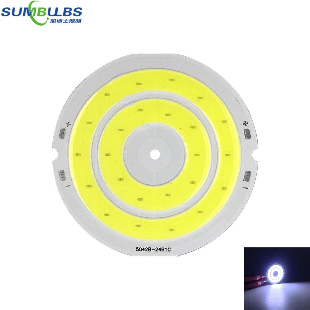 DC 3V 4V Round COB LED Bulb 3.7V Lamp For DIY Work Lights House Decor Lighting 50mm Diameter Circular COB Chip Cold White LED