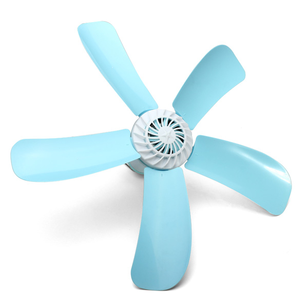 220V 7W Small Lake Green Energy-saving Fan Breeze Household Electric Mosquito Killer Mini Ceiling Cool Fan With 5 Leaves