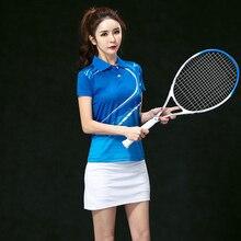 2017 Badminton Team Jerseys Female , Women's Tennis clothes sets ,Table Tennis wear , Tennis sets blue set 5059B