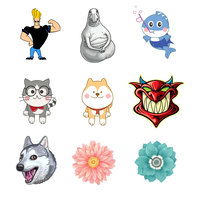 1 PC Cartoon Badges for Backpack Acrylic Badges for Clothes Icons on The Backpack Pin Brooch Badge