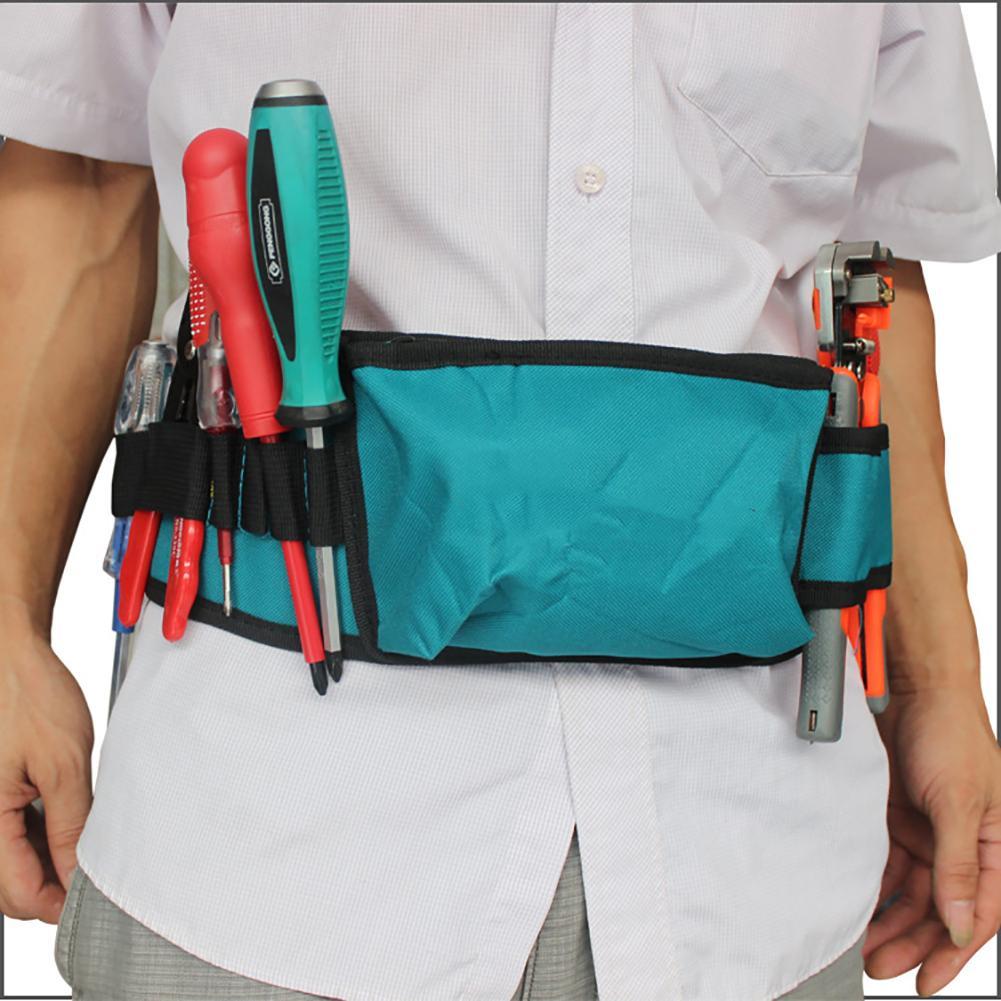 Carpenter Hammer Tool Waist Bag Pockets Electrician Pouch Oxford Cloth Holder Crossbody Bags