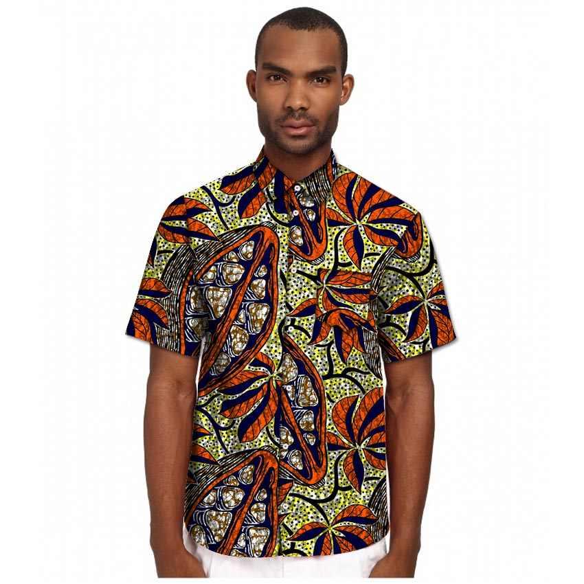 Camisetas de estilo africano para hombre, camisetas de verano de manga corta dashiki, camisas de estampado de Ankara para hombre, trajes, ropa Africana personalizada