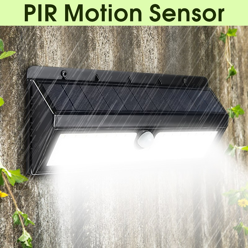 все цены на Smuxi Solar Powered Light 62 LED Solar Light PIR Human Body Motion Sensor Outdoor LED Garden Light Waterproof IP65 Wall Lamp онлайн