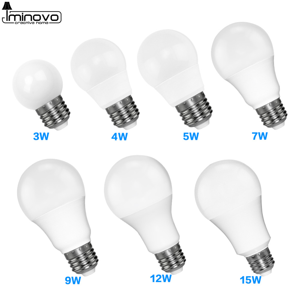 LED Bulb E27 E14 Bombillas Lamp Spotlight Light Lampada Diode cfl Ampoule SMD 2835 3W 9W 5W Energy Saving Home Decor 220V 110V a bright e27 e14 mr16 gu10 led lamp 5w 6w 8w led spotlight bombillas gu5 3 spot light lampada led bulb 110v 12v 220v lampara 9w