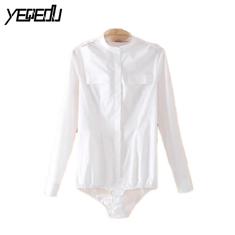 #2103 2017 Korean Slim Body femme Blusa feminino White shirt women Fashion Blusas femininas Chemise femme Women clothes Bodysuit
