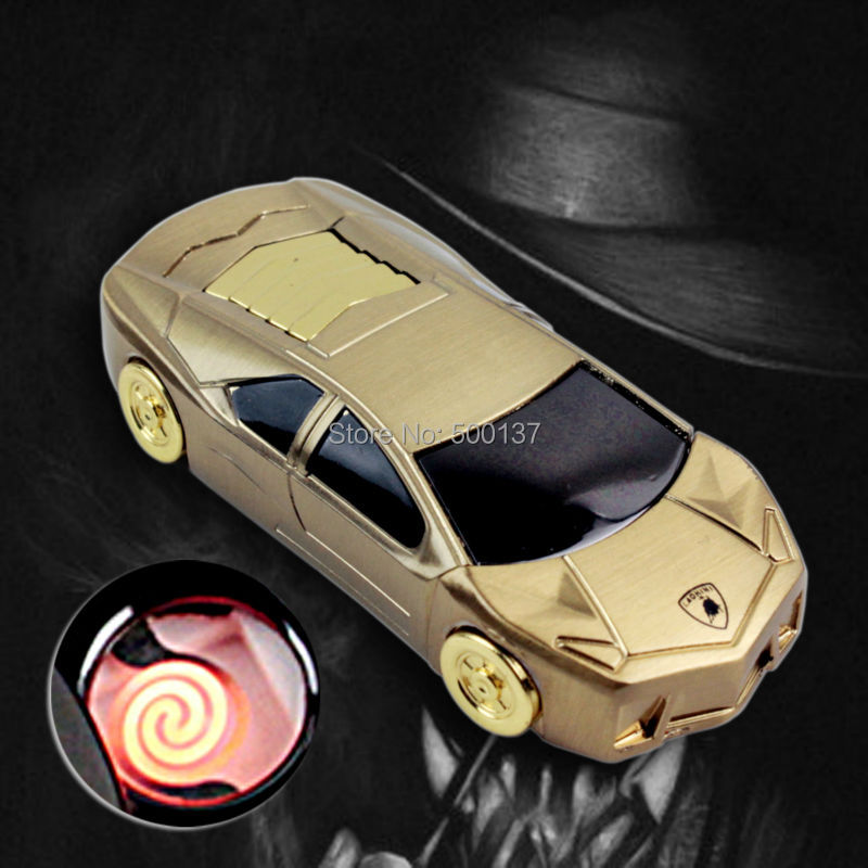 Firedog Cool Sportscar Style USB Flameless font b Electronic b font Rechargeable Windproof font b Cigarette