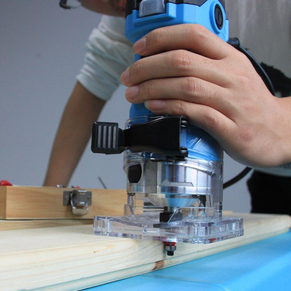 TASP 600 W eléctrico Borde de laminado Trimmer de la madera Mini Router 6,35mm Collet máquina de tallado de carpintería de madera herramientas - 5