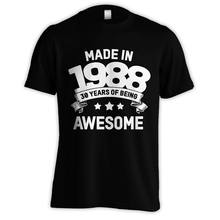 76f93c33 MADE IN 1988 30 YEARS OF BEING AWESOME! 30TH BIRTHDAY GIFT T-SHIRT | S-5XL  Male Hip Hop funny Tee Shirts cheap wholesale