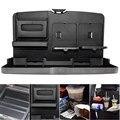 Универсальный Черный Автомобиль поднос еды складной обеденный стол держатель для напитков Автомобиля паллет Сиденье Держатель Воды Автомобиль Чашки ABS Автомобильный Комплект Столовая Лоток