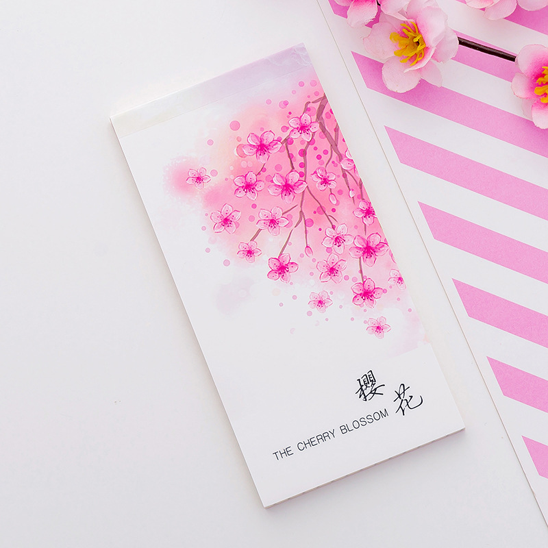3 pcs Cherry blossom memo pad Sakura flower agenda list notepad diary Daily planner Stationery Office School supplies F060 in Notebooks from Office School Supplies