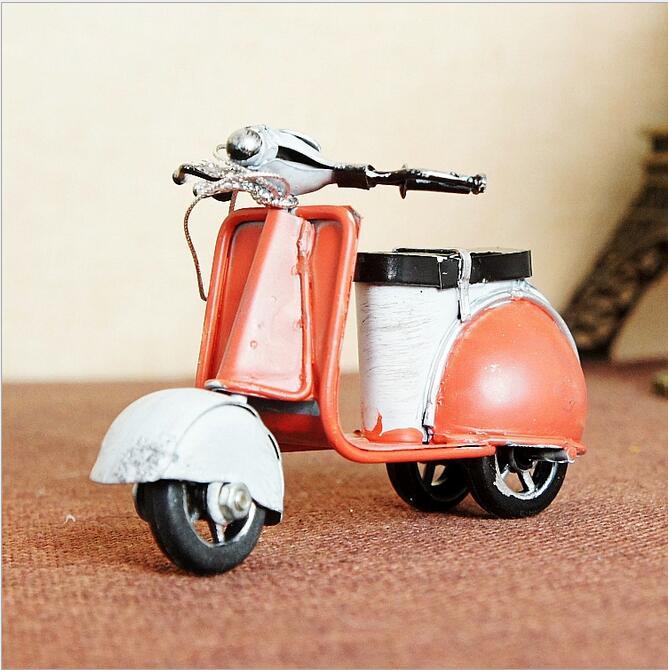 Retro dzelzs mini motocikls Romantisks dzimšanas dienas dāvanu - Mājas dekors - Foto 3