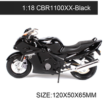 DMH 1:18 Motorcycle Models CBR600F CBR1100XX VRF NR F6C race model bike Base Diecast Moto Children Toy For Gift Collection