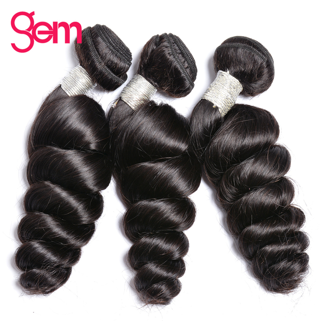 Indian Remy Hair Loose Wave Bundles Hair Extensions 100 Human Hair