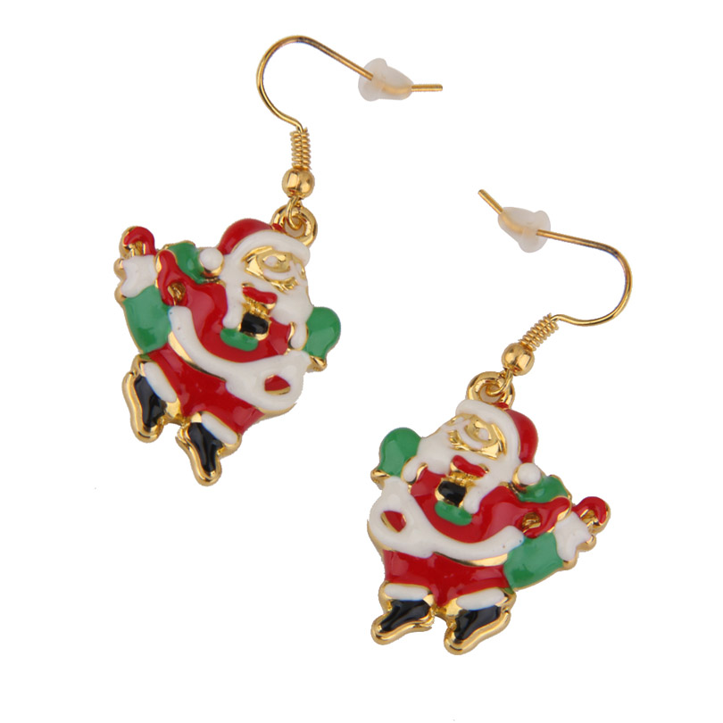 Санта Клаус молния Серьги для рождественской вечеринки подарок Красота Декор 2016 новое поступление EE