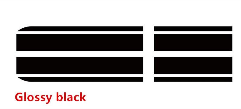 Гоночные полосы капот автомобиля хвост Стикеры Авто аксессуары наклейка для MINI Cooper S Countryman Clubman R56 R60 R61 F54 F55 F56 - Название цвета: glossy black