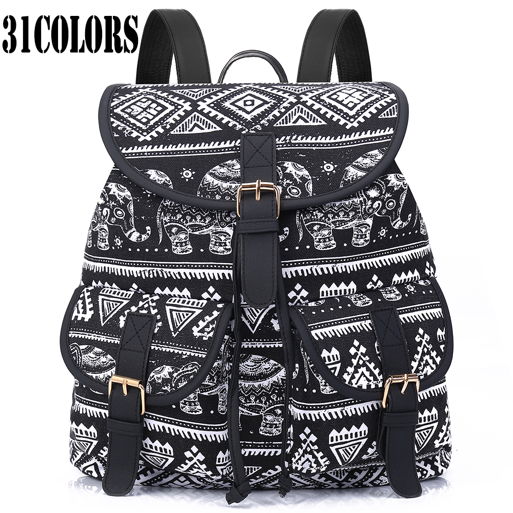 exclusive new 2016 handmade bohemian mochila vintage backpack drawstring printing canvas bagpack. Black Bedroom Furniture Sets. Home Design Ideas