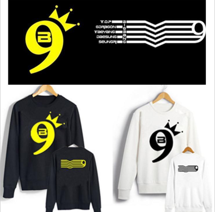 Bigbang kpop concert FAIT 9 anniversaire Sweat GD top À manches Longues Automne À Capuche vêtements k-pop Manteau Chemise Outerwears sweat-shirt