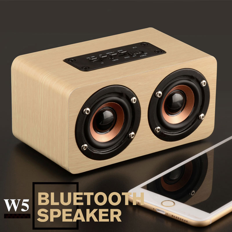 retro wood wireless bluetooth speaker portable speakers computer mini 3d dual loudspeakers usb. Black Bedroom Furniture Sets. Home Design Ideas